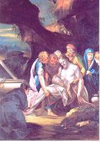 XIV ESTACIÓN: Jesús es puesto en el sepulcro