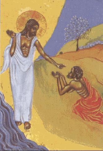 Jesús perdona a Pedro y le manda apacentar a sus ovejas