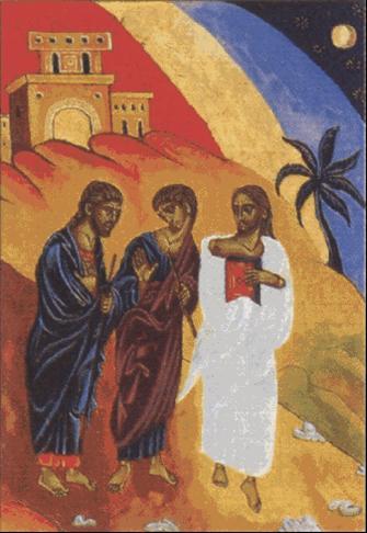 Jesús se aparece en el camino a Emmaus