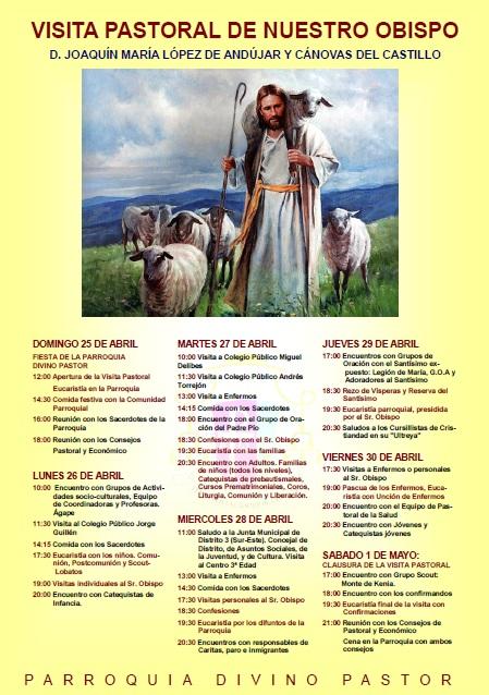 Horario de la Visita Pastoral de nuestro obispo