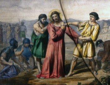 10 estacion Jesús es despojado de sus vestiduras