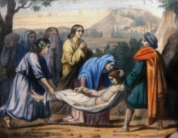 14 estacion Jesús es colocado en el sepulcro