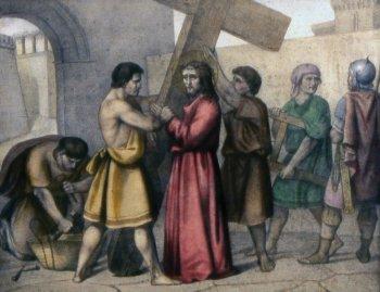 2 estacion Jesús con la cruz a cuestas