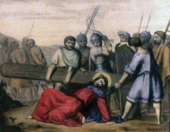 3 estacion Jesús cae por primera vez