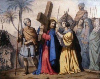 6 estacion La Verónica enjuga el rostro de Jesús