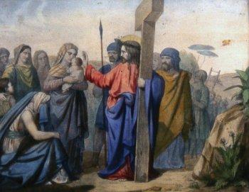 8 estacion Jesús encuentra a las mujeres de Jerusalén que lloran por él