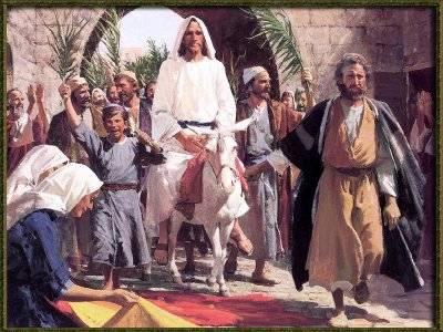 Jesús entrada triunfal domingo-de-ramos