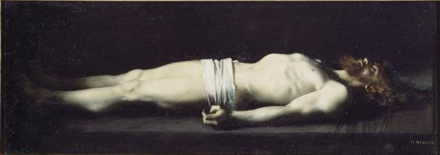 Cuadro de Jesus en la tumba por Jean-Jacques Henner