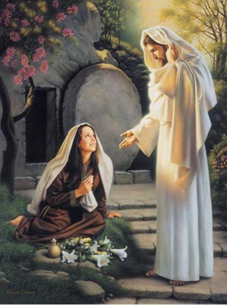 Imagen de Jesus Resucitado se le aparece a Maria Magdalena
