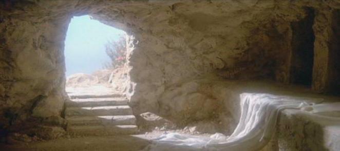 Imagen del Sepulcro de Jesuscristo vacio tras su resurrección